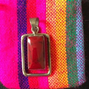 Jewelry - Large red stone pendant